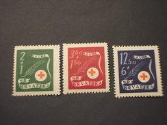 CROAZIA - 1944 COCE ROSSA/SPIGA  3 VALORI - NUOVI(+) - Croazia