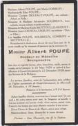 IMAGE PIEUSE-QUESMES-GEEST-GEROMPONT-ALBERT POUPE-BOURGMESTRE-DOCTEUR+1928-VOYEZ 2 SCANS- ! ! ! - Images Religieuses