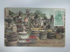 CPA AFRIQUE PORTO NOVO DAHOMEY  SUR LE MARCHE BELLE ANIMATION - Benin