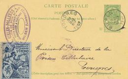YY094 --  Entier Armoiries BILSEN 1907 Vers Prison De TONGRES - Superbe Vignette EXPO Provinciale ST TROND - Entiers Postaux