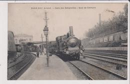 CPA -  PARIS XVIIe - Gare Des Batignolles - Quai De Ceinture - Locomotive A Vapeurs 3553 - Gros Plan - Arrondissement: 17