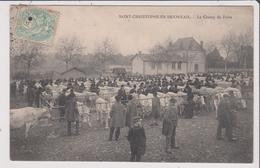 CPA -  ST SAINT CHRISTOPHE EN BRIONNAIS - Le Champ De Foire - Other Municipalities