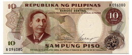 PHILIPPINES 10 PISO ND(1969) Pick 144a Unc - Philippines