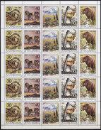 Yugoslavia 1987 Protected Animal Species Sheet Of 5 Sets, MNH (**) Michel 2206-2209