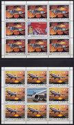 Yugoslavia 1987 Civil Aviation In Yugoslavia - 60th Anniversary Sheet Of 9, MNH (**) Michel 2213-2214 (M/S Mini Sheet) - Blocks & Kleinbögen