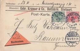 DR NN-Karte Mif Minr.85I, 86I Stuttgart 18.5.10 Gel. Nach Bassum - Deutschland
