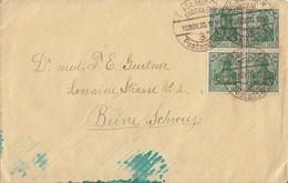 DR Brief Mef Minr.4x 143b 4er Block Esslingen 13.11.20 Gel. In Schweiz Geprüft - Allemagne