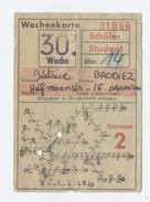 BILLET DE TRAM ALLEMAGNE -C87 - Tram