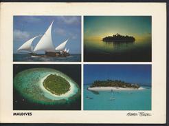 °°° GF12 - MALDIVE ISLANDS - MALE ATOLL - VIEWS - 1991 With Stamps °°° - Maldive