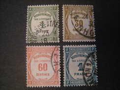 1927-31 TAXE, YT N. 55,57,58,60, Oblit. TB - Segnatasse