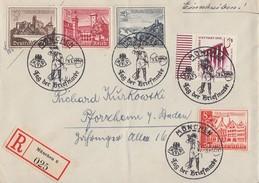 DR R-Brief Mif Minr.693,730,731,734,735 SST München 7.1.40 - Briefe U. Dokumente