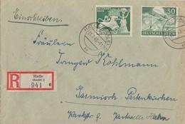 DR R-Brief Mif Minr.817,840 Halle 21.7.43 - Briefe U. Dokumente