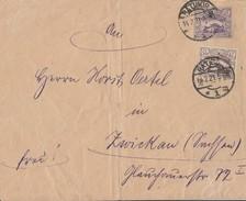 Oberschlesien Brief Mif Minr.17,19 Ratibor 14.2.21 Gel. Nach Zwickau - Deutschland