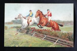 Carte épaisse - Course Hippique Saut D'obstacle - Cartes Postales