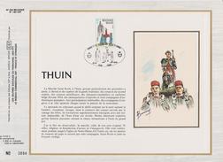 Feuillet Tirage Limité CEF 254 1948 Thuin - 1971-1980