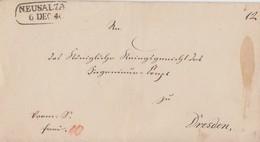 Brief Neusalza 6.12.1844 Gelaufen Nach Dresden - Sachsen