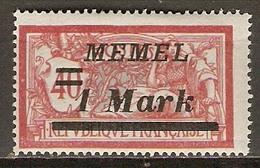 MEMEL     -   1922  .  Y&T N° 57 * .   Merson  Surchargé - Memel (1920-1924)