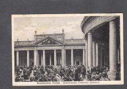 1936 MONTECATINI TERME TETTUCCIO FP V  SEE 2 SCANS TIMBRO PENSIONE EVELINA PALANDRI - Italia