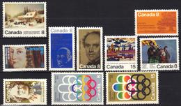 Canada N° 493, 494, 498, 499, 500, 501, 502, 505, 506, 507 ** - Ungebraucht