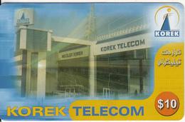 KURDISTAN(North IRAQ) - Telecom Building, Korek Telecom Prepaid Card 10$, Used