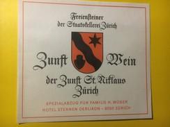 3815 -  Freiensteiner  Cave Dë L'Etat De Zurich Guilde St.Niklaus Suisse - Etiquettes