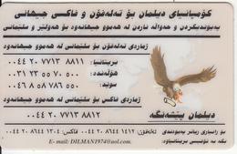 KURDISTAN(NORTH IRAQ) - Eagle, Dilman Prepaid Card, Used