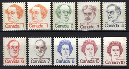 Canada N° 508 - 511, 513, 514, 508a, 525, 610, 610a ** - Ungebraucht