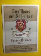 3817 -  Zubfthaus Zur Schmiden Freiensteiner Beerli  Zurich  Suisse - Etiquettes