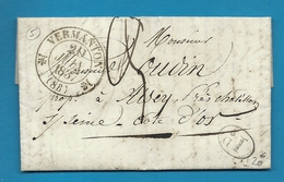 Yonne - Vermanton Pour Aisey Près Chatillon Sur Seine (Cote D'Or). CàD Type 12 + Taxe Manuscrite 3. 1837 - Marcophilie (Lettres)