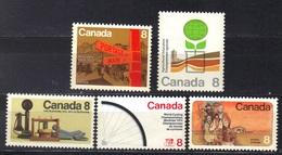 Canada N° 533, 540, 541, 542, 543 ** - Ungebraucht