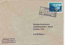"""Brief 1985 Mit Bahnhofsstempel """"PFÄFFIKON (ZH)"""" Nach Deutschland (br0007) - Switzerland"""