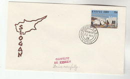 1976 CYPRUS EVENT COVER  Road Safety DRIVE CAREFULLY, Stamps - Cyprus (Republic)