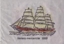 ITALIA : Suikerzakje/Sachet De Sucre/Sugar Package: SCHIP,NAVIRE,SHIP,SCHIFF, ## VELIERO MERCANTILE 1800 ## - Sucres