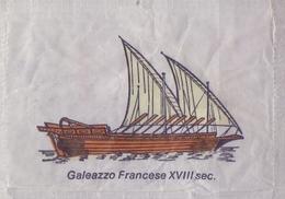 ITALIA : Suikerzakje/Sachet De Sucre/Sugar Package: SCHIP,NAVIRE,SHIP,SCHIFF, ## GALEAZZO FRANCESE XVIII Sec. ## - Sucres