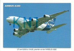 1  C P M , Avion Air Bus A  380 1er Vol 2005 - 1946-....: Moderne