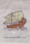 ITALIA : Suikerzakje/Sachet De Sucre/Sugar Package: SCHIP,NAVIRE,SHIP,SCHIFF, ## NAVE EGIZIANA (2000 A. C.) ## - Sucres
