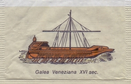 ITALIA : Suikerzakje/Sachet De Sucre/Sugar Package: SCHIP,NAVIRE,SHIP,SCHIFF, ## GALEA VENEZIANA XVI Sec. ## - Sucres