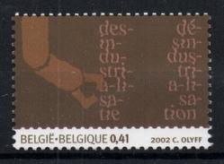 Belgium 2002 Mi. 3175 MNH, 20th C. Society, De-Industrialization, Illustr. Hand Of Robot - Fabbriche E Imprese