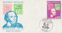 Enveloppe FDC  1er Jour   POLYNESIE  Sir  Rowland  HILL   1979 - Rowland Hill