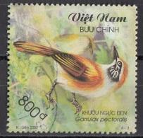 3116 Viet Nam 2002 Uccelli Birds Garrulax Pectoralis Garrulo Sghignazzante Dal Collare Maggiore Used - Passeri