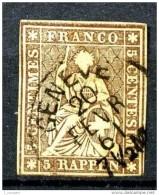 YT 26 - Oblitéré - 1854-1862 Helvetia (Non-dentelés)