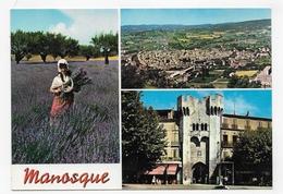 MANOSQUE - MULTIVUES AVEC CHAMP DE LAVANDE - CPM GF VOYAGEE - Manosque