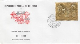 FDC REPUBLIQUE POPULAIRE DU CONGO Yv P.A. 139 1000F OR - XIII JAMBOREE MONDIAL 14 VII 1971 BRAZZAVILLE/ 6232 - FDC