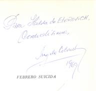 FEBRERO SUICIDA LIBRO AUTOR ANGELA COLOMBO INSTITUTO AMIGOS DEL LIBRO ARGENTINO POESIA DEDICADO Y AUTOGRAFIADO POR LA AU - Poetry