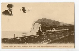 AVIATION - ROLLS Sur Biplan Wright, En Fortes Toiles Continental (Pneus) - Aviateurs