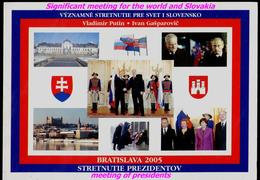108-SLOVAKIA, USA+RUSSIA Summit Bratislava Presidents V. PUTIN+G. BUSH+slovak President I. GASPAROVIC 2005 - Persönlichkeiten