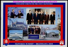 110-SLOVAKIA, USA+RUSSIA Summit Bratislava Presidents V. PUTIN+G. BUSH+slovak President I. GASPAROVIC 2005 - Persönlichkeiten