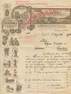 1910 NAPOLI  CARNEVALI MACCHINE MOLINI E PASTIFICI ILLUSTRATA MARGINI COMPLETI (SCANSIONE INSUFFICIENTE) (A910) - Italia