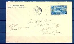 1929 , CUBA , LA HABANA - BALBOA ( ZONA DEL CANAL ) , YV. AEREO 1 , LLEGADA AL DORSO. - Lettres & Documents