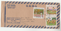 1969 Air Mail COOK ISLANDS Stamps COVER  SCOUTS JAMBOREE  Scouting - Cook Islands